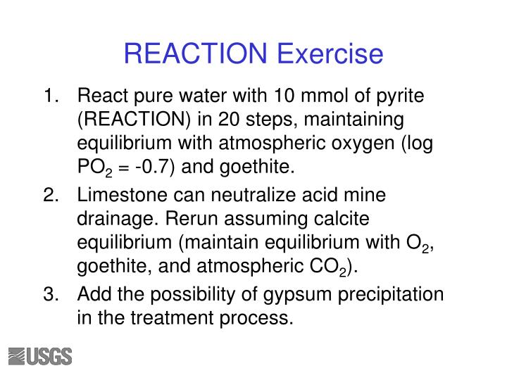 REACTION Exercise