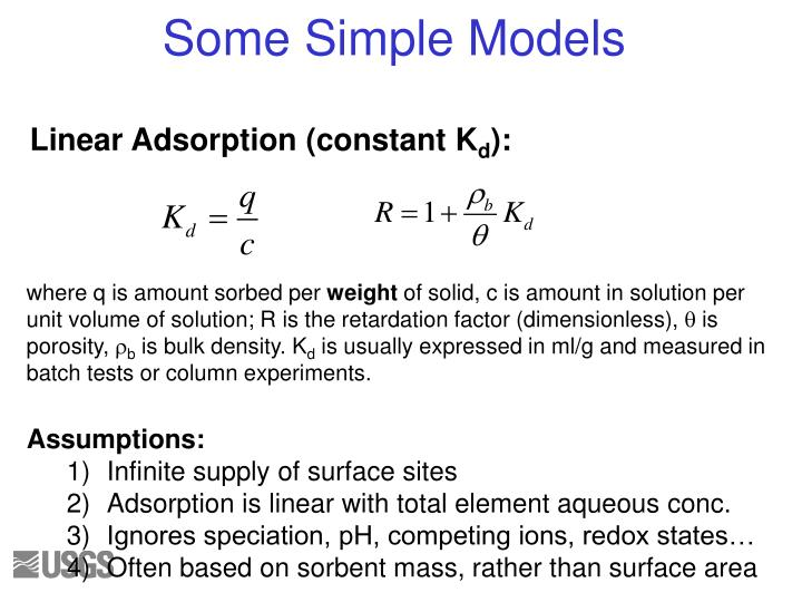 Linear Adsorption (constant K
