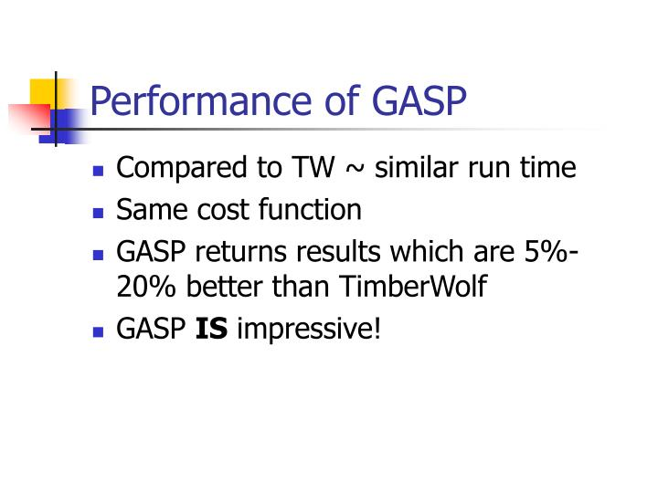 Performance of GASP