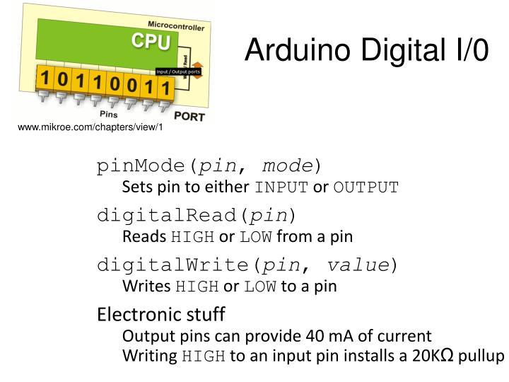 Arduino Digital I/0