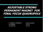 adjustable strong permanent magnet for final focus quadrupole