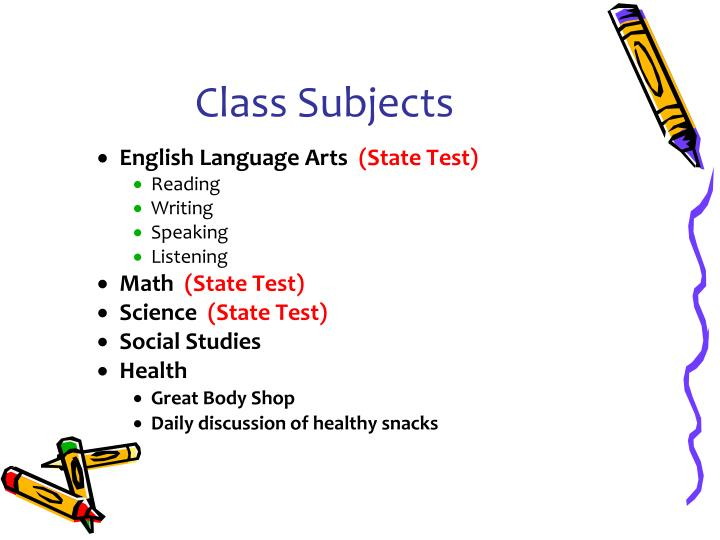 Class Subjects