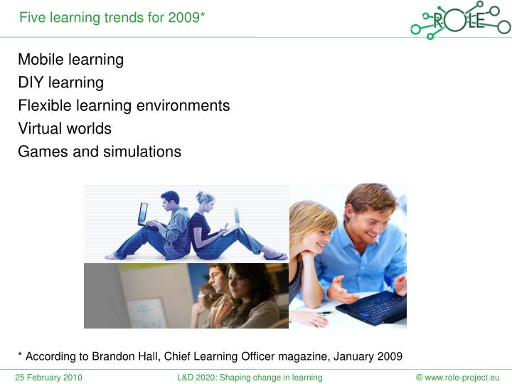 Five learning trends for 2009*