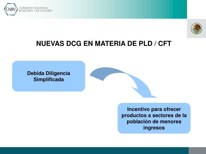 NUEVAS DCG EN MATERIA DE PLD / CFT