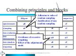 combining principles and blocks1