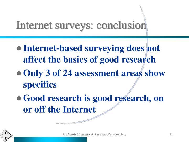 Internet surveys: conclusion