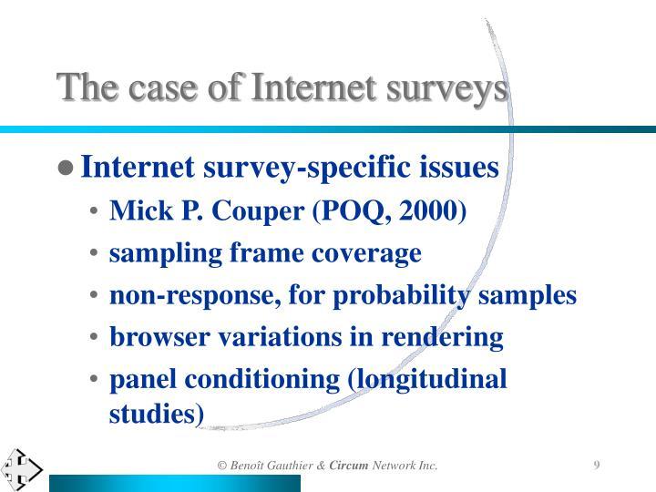 The case of Internet surveys