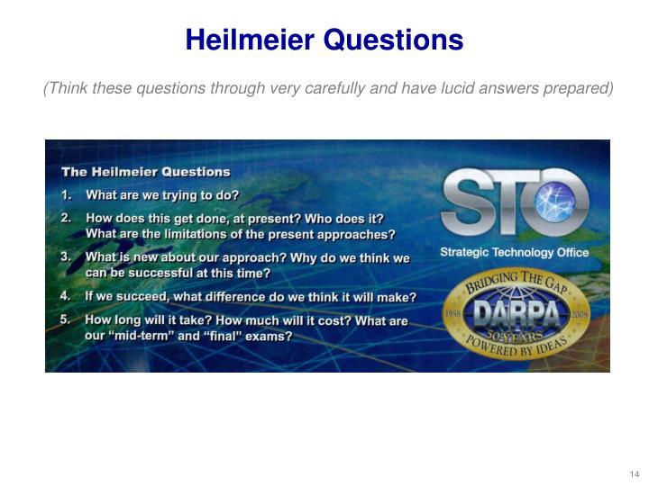 Heilmeier Questions