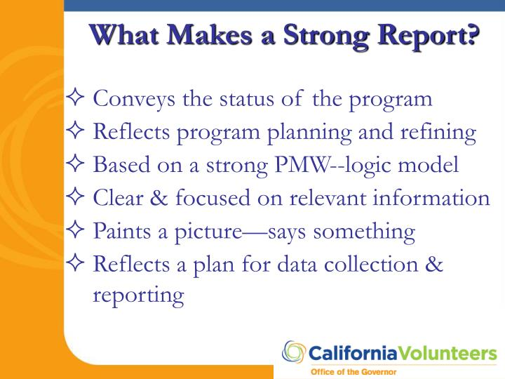 What Makes a Strong Report?