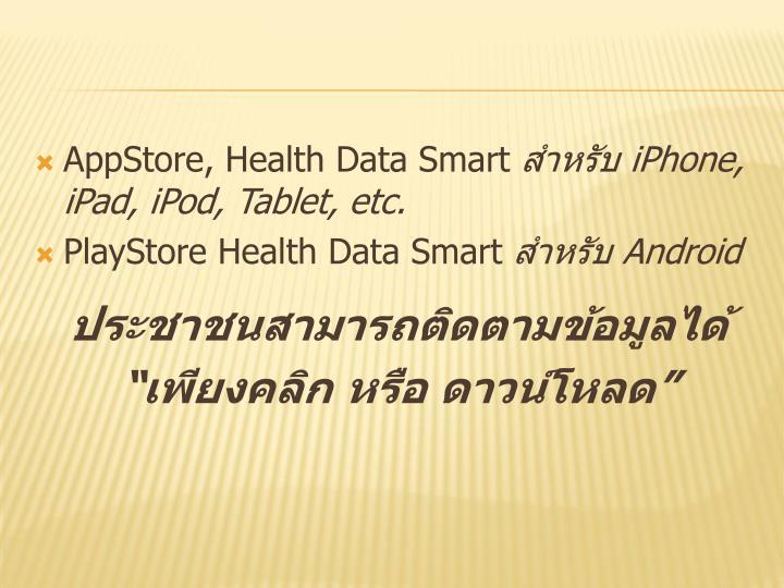 AppStore, Health Data Smart