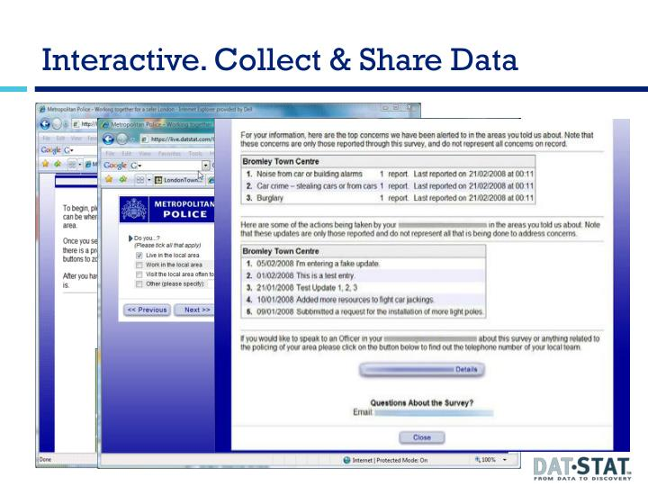 Interactive. Collect & Share Data