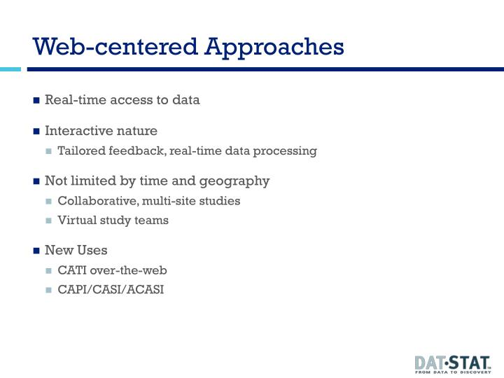 Web-centered Approaches