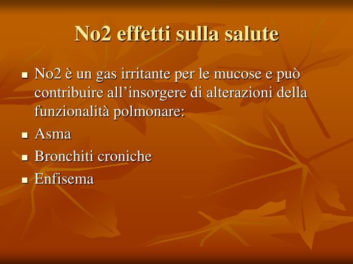 No2 effetti sulla salute