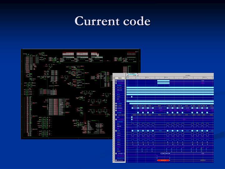 Current code