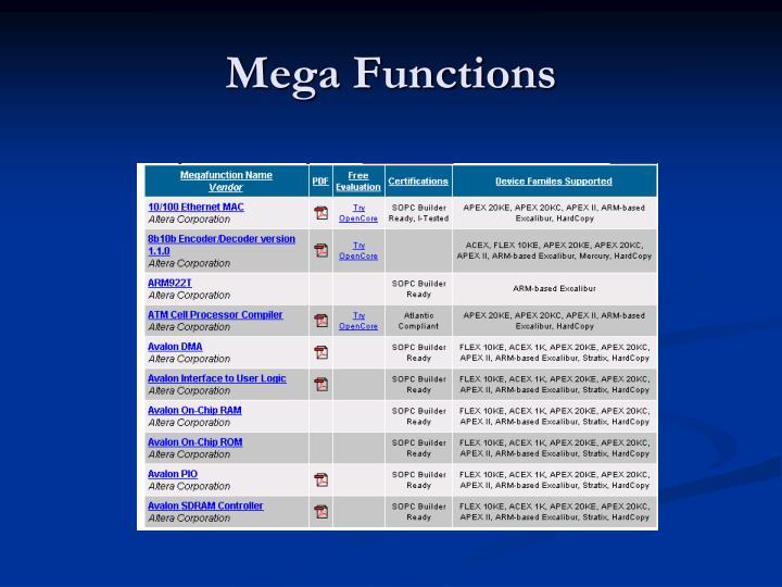 Mega Functions
