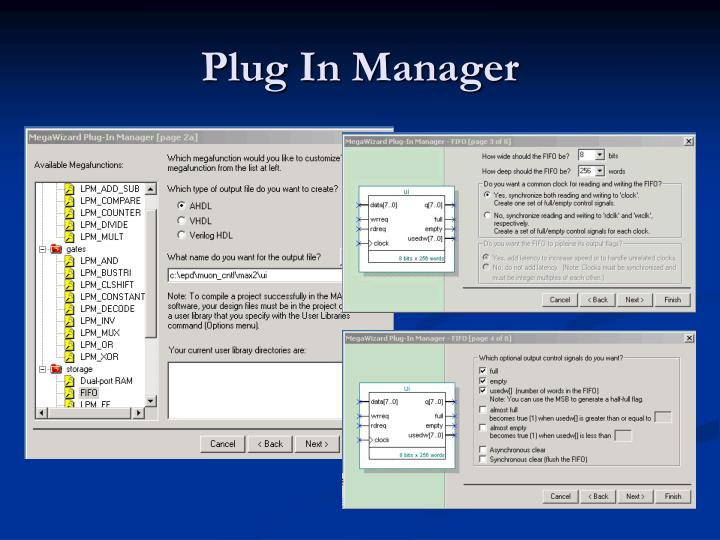 Plug In Manager