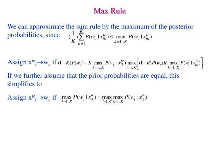 Max Rule