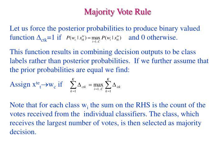 Majority Vote Rule