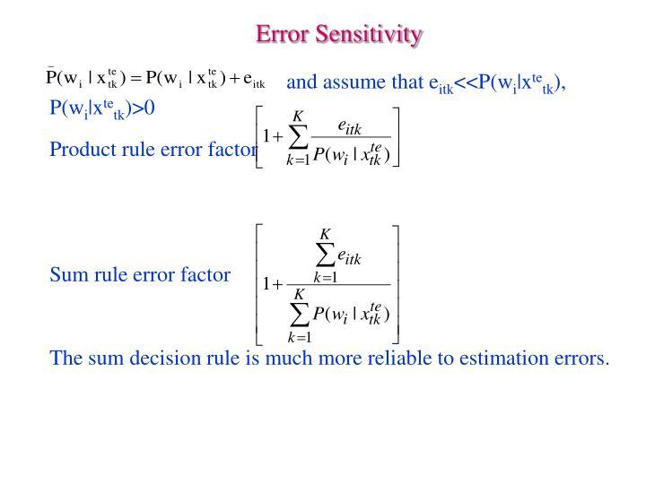 Error Sensitivity