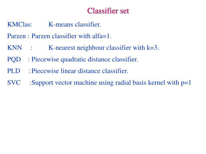 Classifier set
