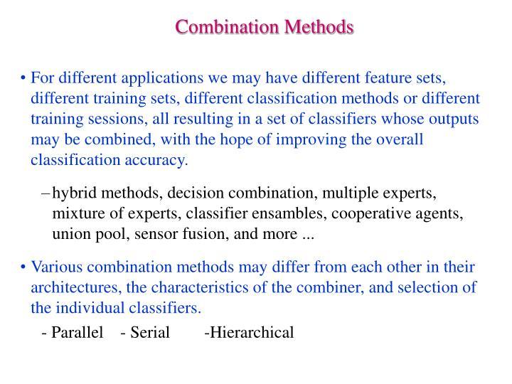 Combination Methods