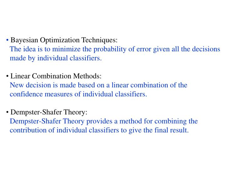 Bayesian Optimization Techniques: