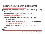 extending ea s with local search