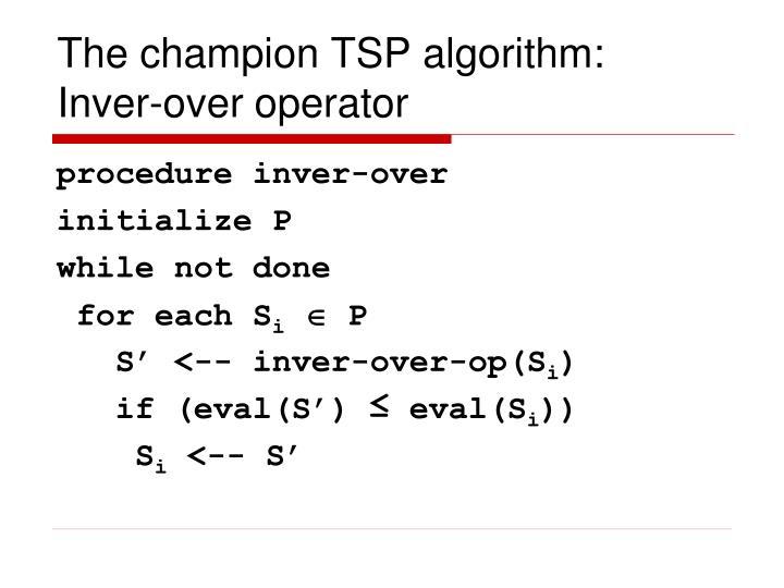 The champion TSP algorithm: