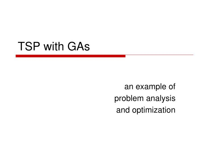 TSP with GAs