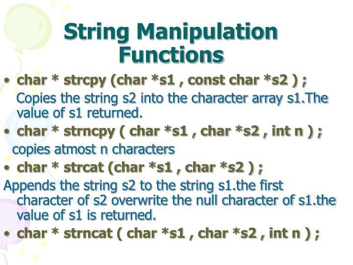 String Manipulation Functions