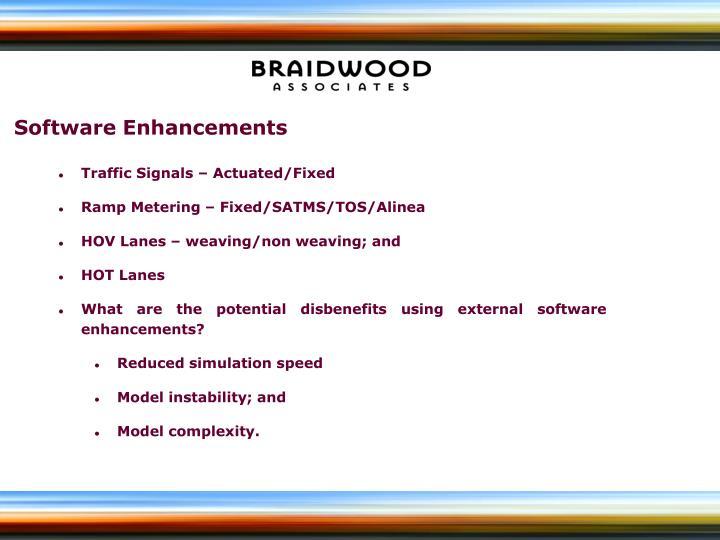 Software Enhancements