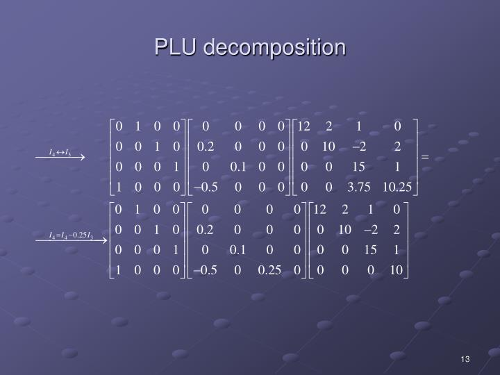 PLU decomposition