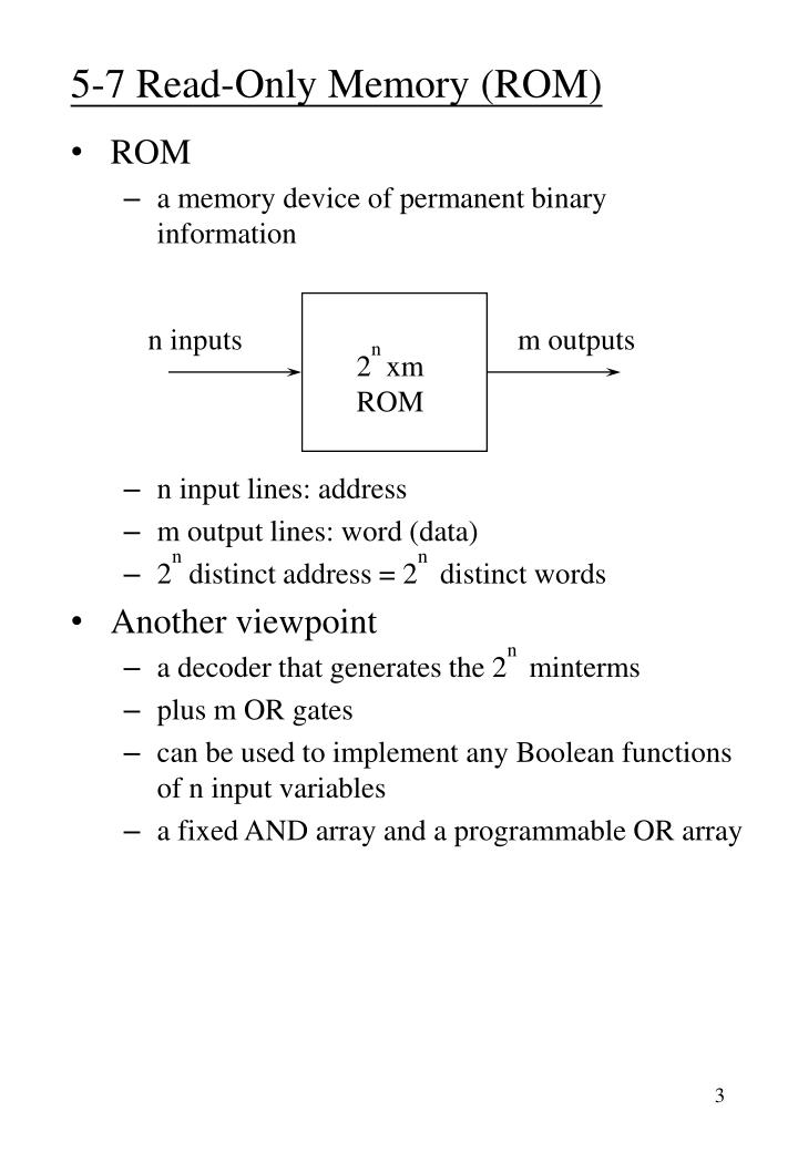 5-7 Read-Only Memory (ROM)