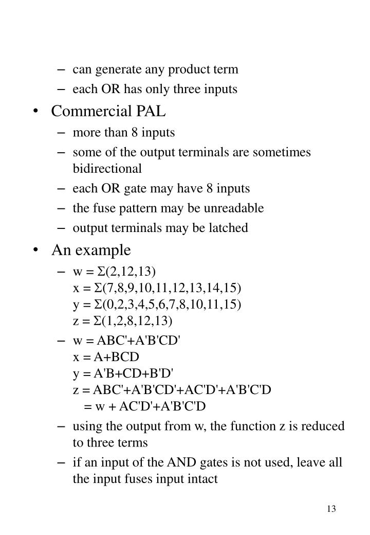 can generate any product term