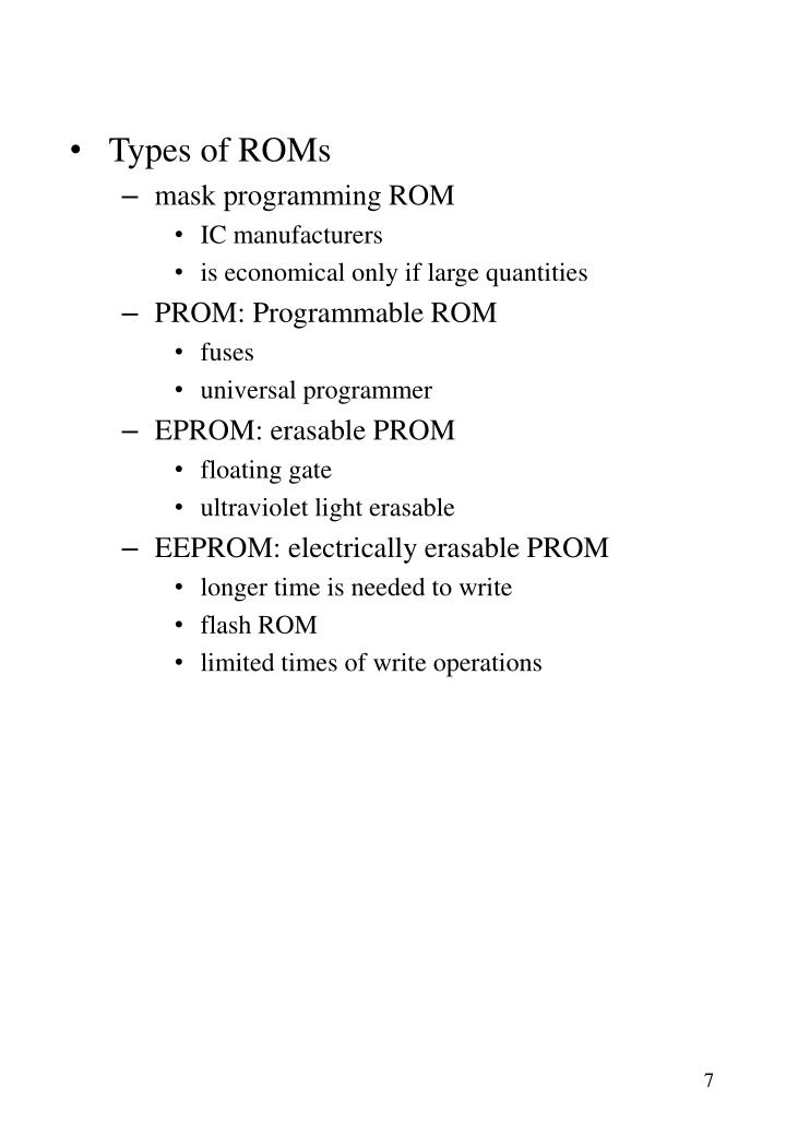 Types of ROMs