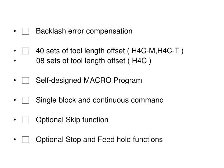 □Backlash error compensation
