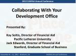 collaborating with your development office