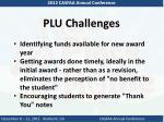 plu challenges