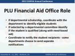 plu financial aid office role1