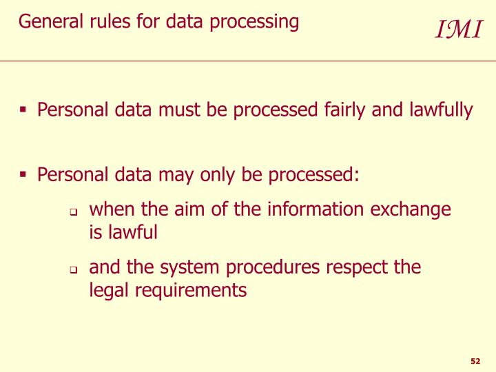 Personal data must be processed fairly and lawfully