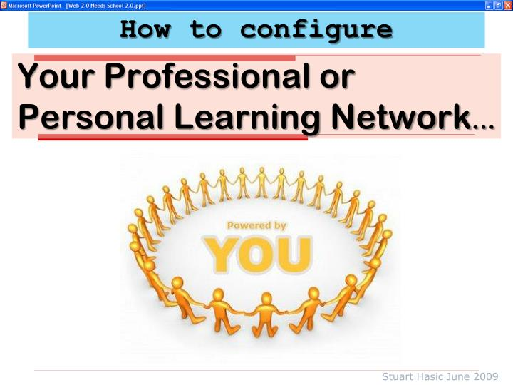 Your professional or personal learning network