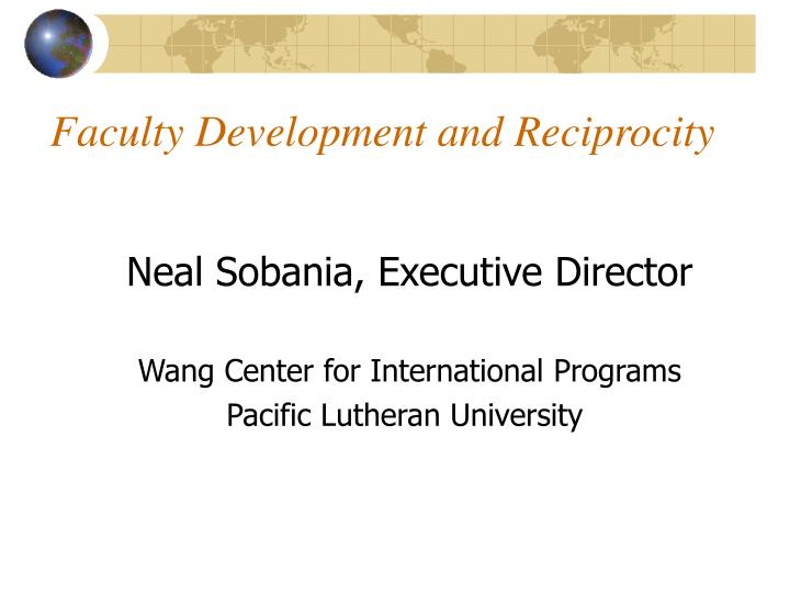 Faculty Development and Reciprocity