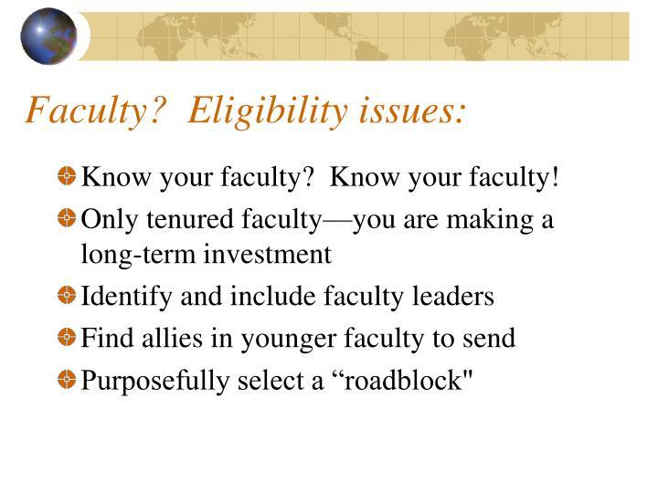 Faculty?