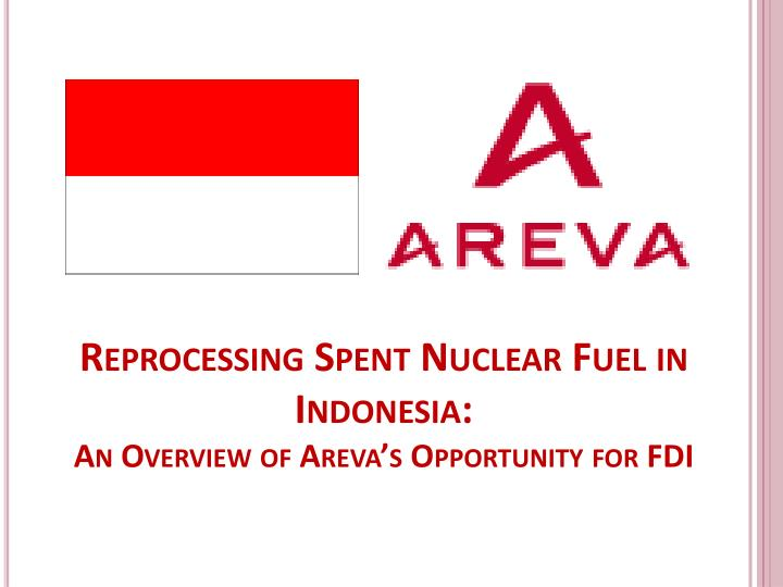 Reprocessing Spent Nuclear Fuel in Indonesia: