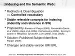 indexing and the semantic web