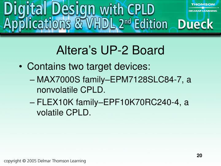 Altera's UP-2 Board