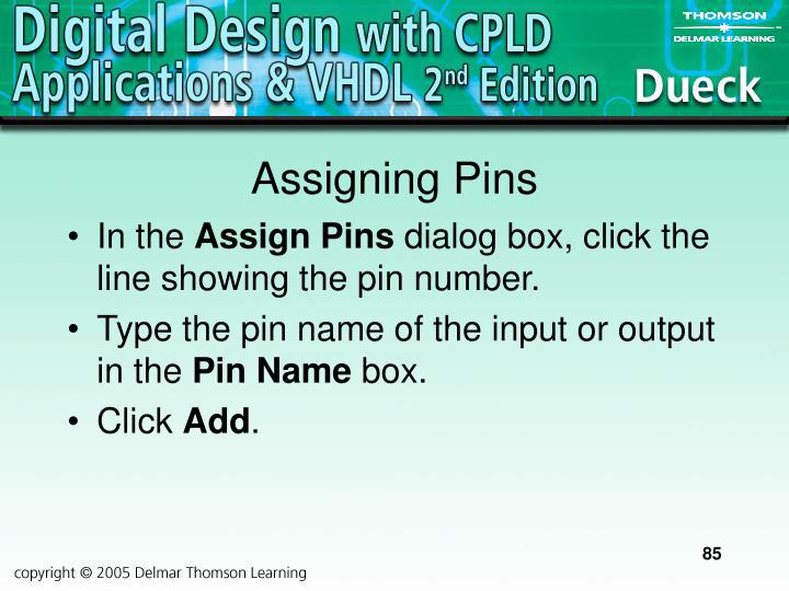 Assigning Pins