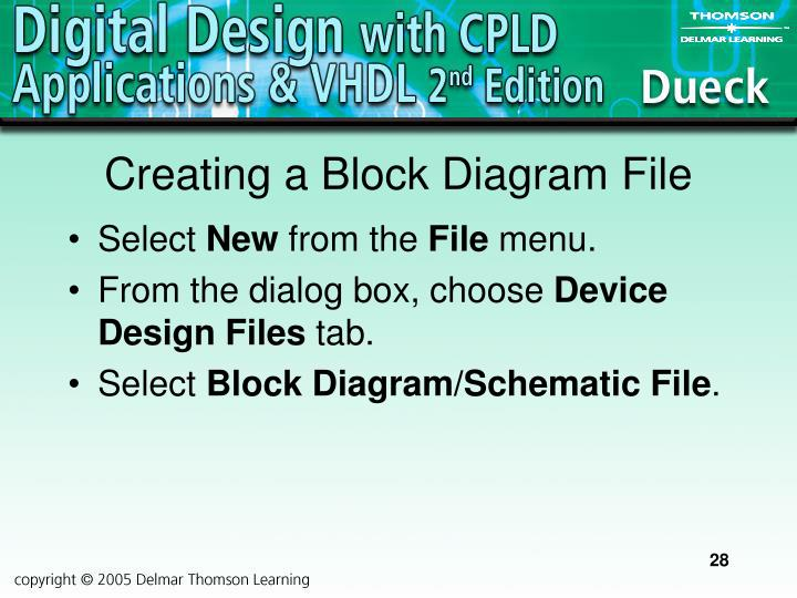 Creating a Block Diagram File