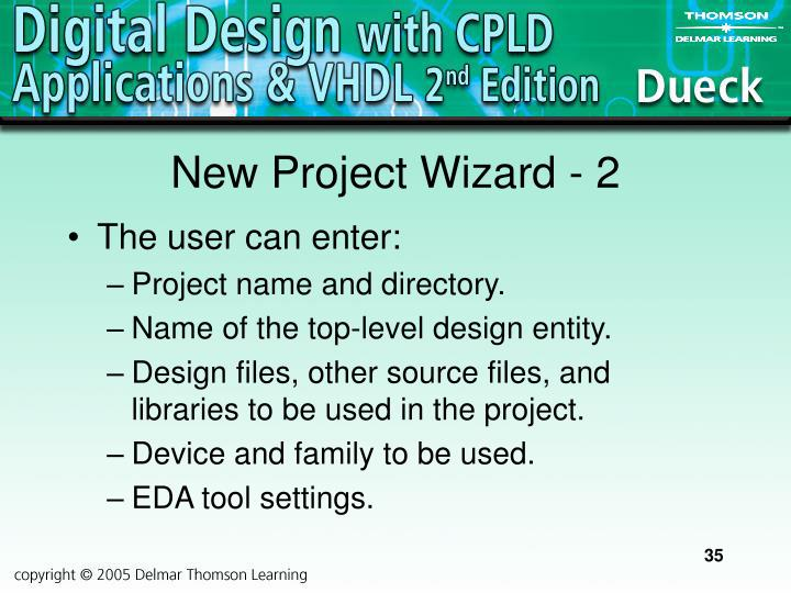 New Project Wizard - 2