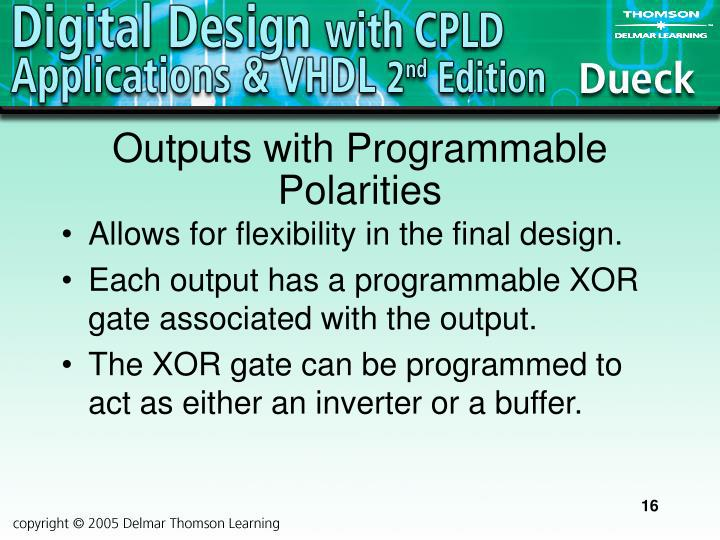 Outputs with Programmable Polarities